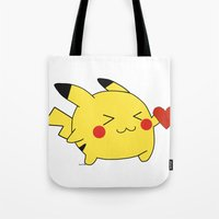 pikachu in love  Tote Bag