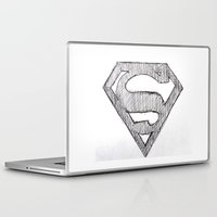superman Laptop & iPad Skins featuring Superman by Frances Roughton