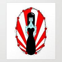 Lady In Black Art Print