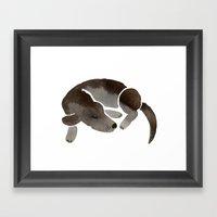 Sleepy Pup Framed Art Print