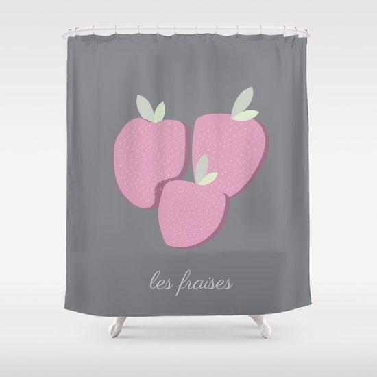Le Fraises Shower Curtain