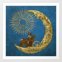 Moon Travel (Colour Option) Art Print