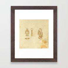 Lego Skeleton Framed Art Print