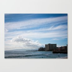 Waikiki Beach Canvas Print
