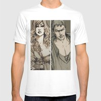 Lancelot And Guinevere Mens Fitted Tee White SMALL