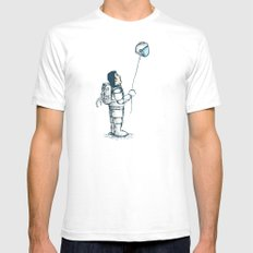 space balloon Mens Fitted Tee White SMALL
