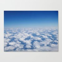 Blue Sky White Clouds Co… Canvas Print