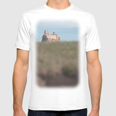 the view to blefuscu... SMALL White Mens Fitted Tee