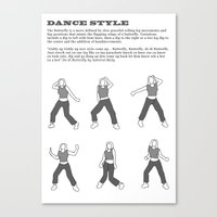 Dance Style: Butterfly Canvas Print