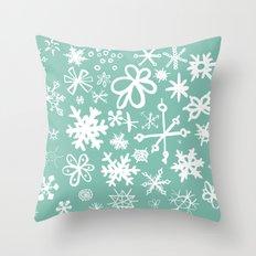 Snowflake Pond Throw Pillow