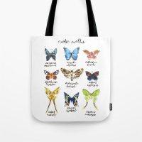 Exotic Moths Tote Bag