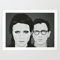 Lisbeth and Mikael / The Girl with the Dragon Tattoo Art Print