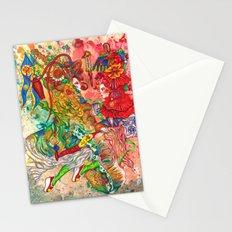 Gemini, The Wonderful Twins: May 22 - Jun 21 / ORIGINAL GOUACHE Stationery Cards
