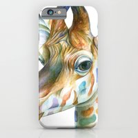 giraffe iPhone & iPod Cases featuring Giraffe by Brandon Keehner