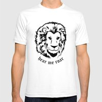 Lannister Lion Mens Fitted Tee White SMALL