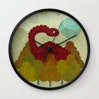 RED DINO Wall Clock