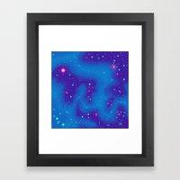 Indigo Nebula (8bit) Framed Art Print