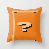 Minimalist Question Bloc… Throw Pillow