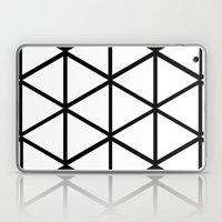 WHITE & BLACK TRIANGLES  Laptop & iPad Skin
