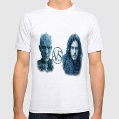 SNOW VS THE WHITE WALKER Mens Fitted Tee Ash Grey SMALL