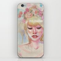 Watercolors and Floral Crowns iPhone & iPod Skin