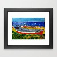 Flota de Coquimbo Framed Art Print