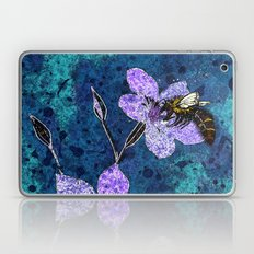 Bee on Linseed Flowers Laptop & iPad Skin
