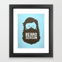 Beard Season Framed Art Print