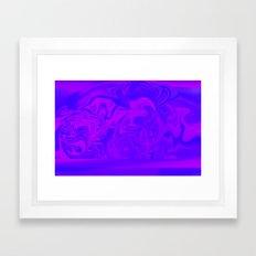 Purple and Pink swirls  Framed Art Print