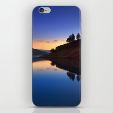 Forest reflection. Blue hour iPhone & iPod Skin