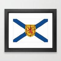 The Flag of Nova Scotia  Framed Art Print