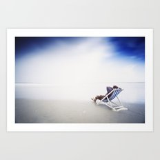 Chilling at the Beach Art Print