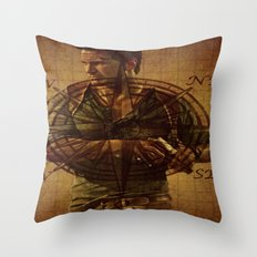 Compass of Uncharted Lands Throw Pillow