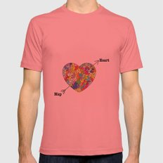 Heart Map Mens Fitted Tee Pomegranate SMALL