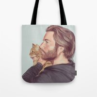 A Man and his Cat Tote Bag
