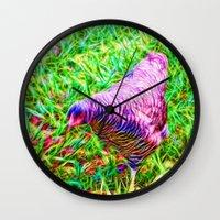 Hen On Grass Wall Clock