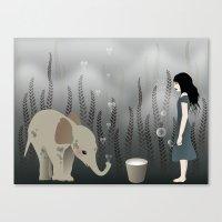 elephant in lo♥e Canvas Print