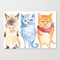 Jack, Jessup and Jill Canvas Print
