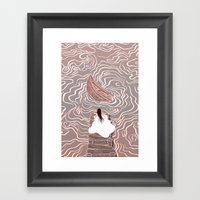 Sinking Boat Framed Art Print