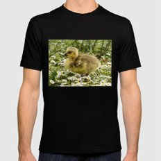 Fluffy Gosling Black SMALL Mens Fitted Tee