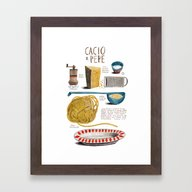 Illustrated Recipes: Cac… Framed Art Print