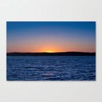 Blue Sunrise Canvas Print