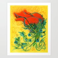 Rosetta Art Print
