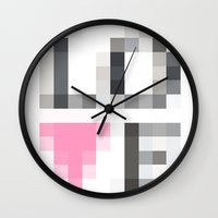 Exaggerated Pixelated LO… Wall Clock