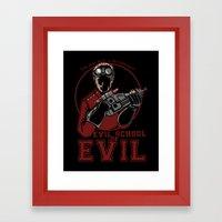 Dr. Horrible's Evil Scho… Framed Art Print