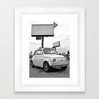 Fiat 500 Forever Framed Art Print