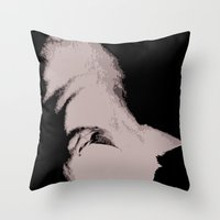Cat Silouette Throw Pillow