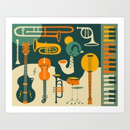 Art Print - JUST JAZZ - Jazzberry Blue