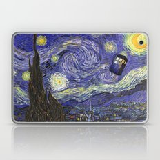 VAN GOGH STARRY NIGHT TARDIS Laptop & iPad Skin