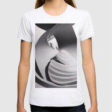 Paper Sculpture #6 Womens Fitted Tee Ash Grey SMALL